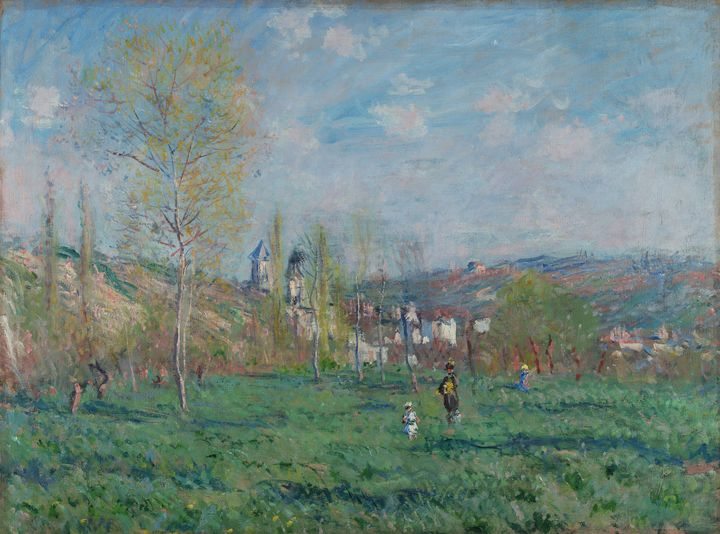 Claude Monet~Spring in Vethuil - Old master