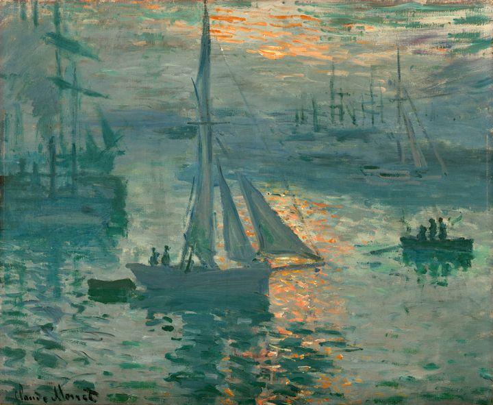 Claude Monet~Sunrise (Marine) - Old master