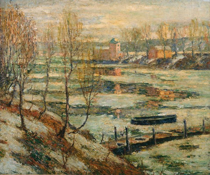 Ernest Lawson~Ice in the River - Old master