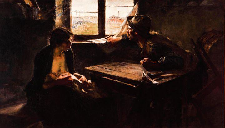 Ernesto de la Cárcova~Sin pan y sin - Old master