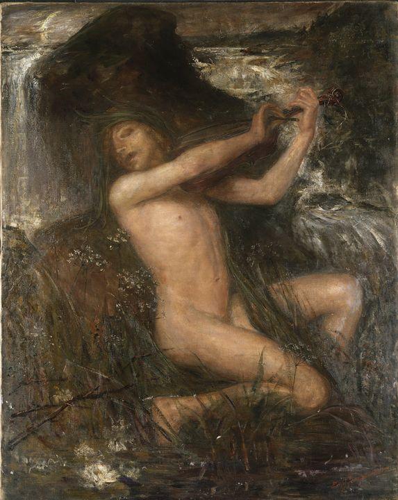 Ernst Josephson~The Water Sprite - Old master