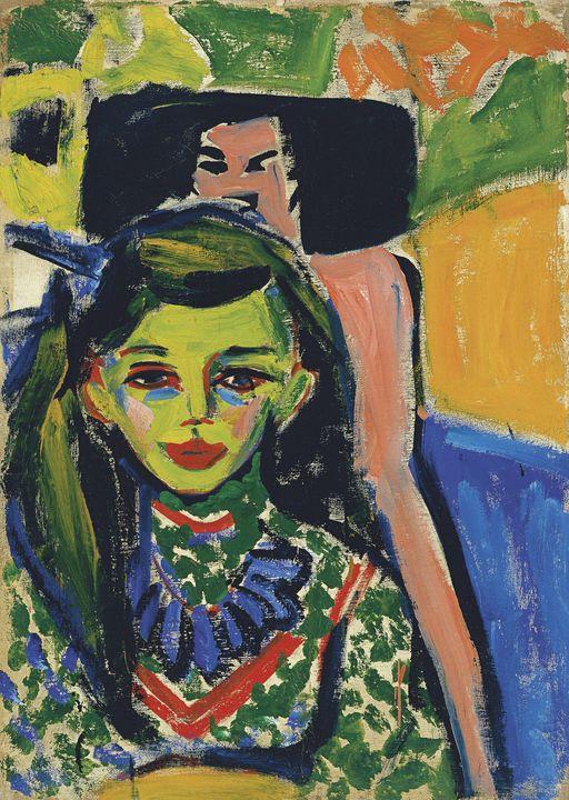 Ernst Ludwig Kirchner~Fränzi in fron - Old master