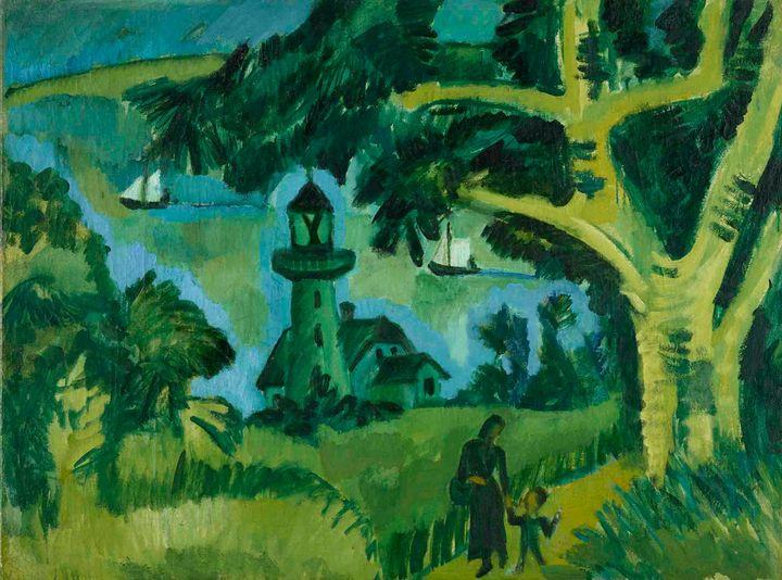 Ernst Ludwig Kirchner~Lighthouse on - Old master