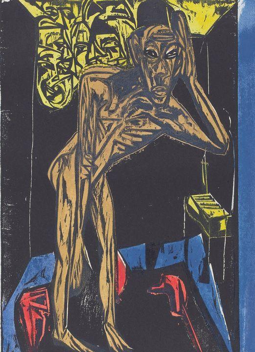 Ernst Ludwig Kirchner~Peter Schlemih - Old master