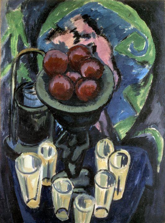 Ernst Ludwig Kirchner~Still Life wit - Old master