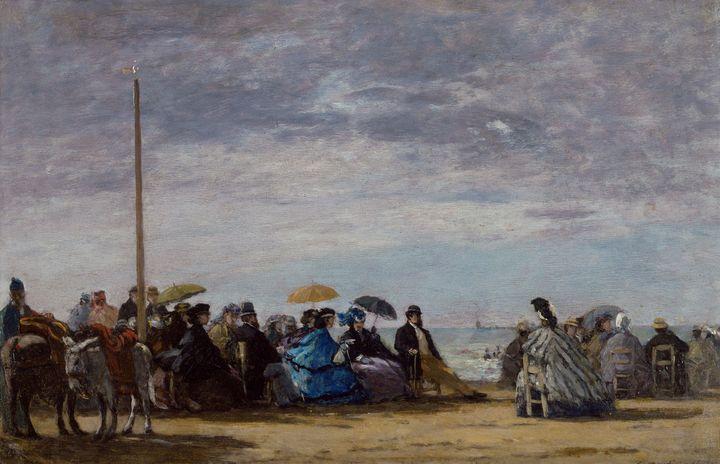Eugène Boudin~The beach - Old master