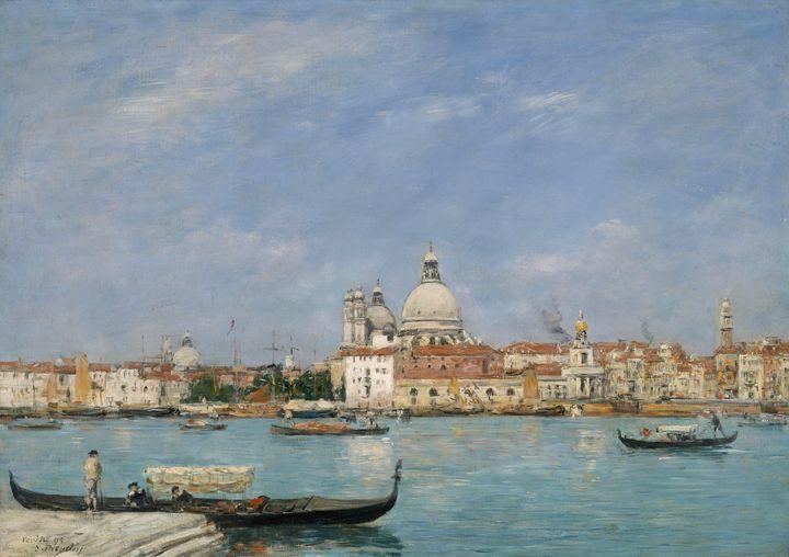 Eugène Boudin~Venice, Santa Maria de - Old master