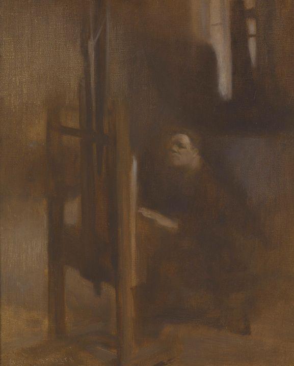 Eugène Carrière~Artist at His Easel - Old master