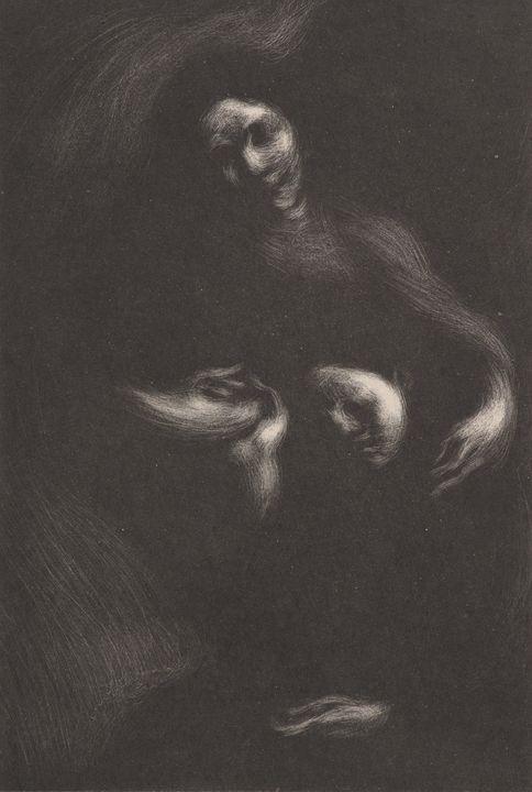 Eugène Carrière~Homage to Tolstoi - Old master