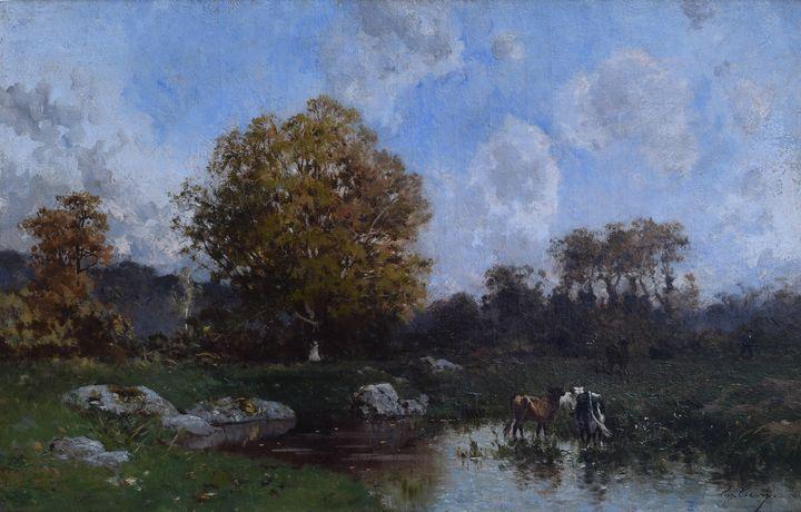 Eugène Cicéri~Landscape - Old master