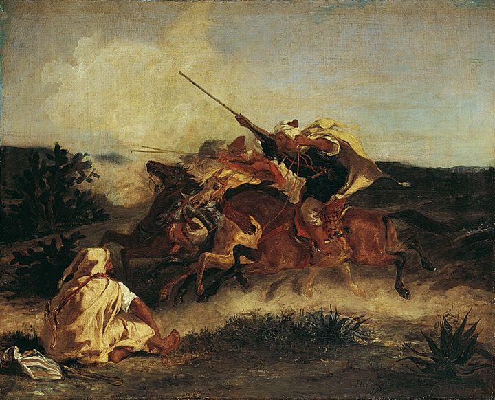 Eugène Delacroix~Fantasia Arabe - Old master