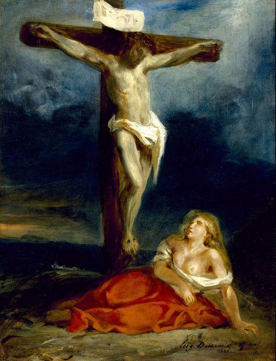 Eugène Delacroix~Saint Mary Magdalen - Old master