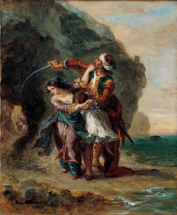 Eugène Delacroix~Selim and Zuleika - Old master