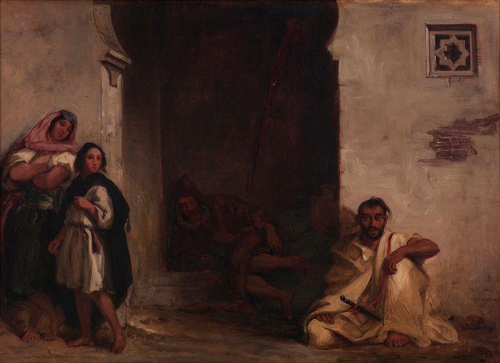 Eugène Delacroix~Street in Meknes - Old master