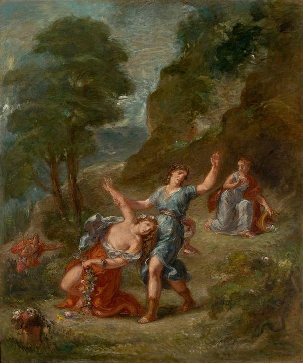 Eugène Delacroix~The Spring - Eurydi - Old master