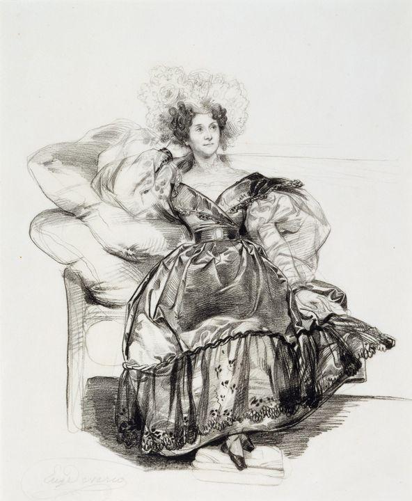 Eugène Devéria~Study for Mme. Jules- - Old master