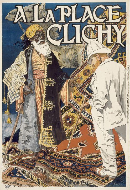 Eugène Grasset~A la Place Clichy - Old master