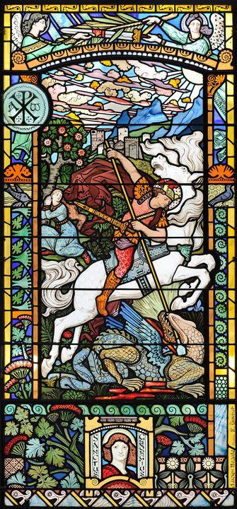 Eugène Grasset~Saint George Killing - Old master