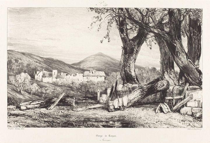 Eugène Isabey~Gorge de Royat, Auverg - Old master