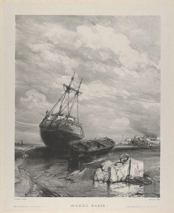 Eugène Isabey~Low Tide - Old master