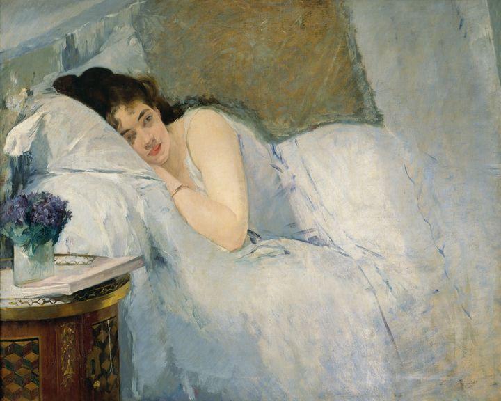 Eva Gonzalès~Girl Awakening - Old master