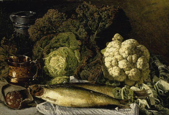 Fanny Churberg~Still Life with Veget - Old master