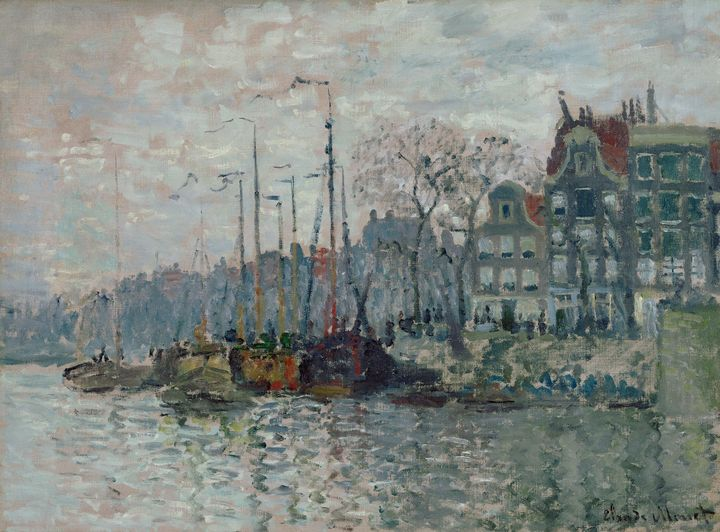 Claude Monet~View of the Prins Hendr - Old master