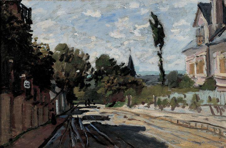 Claude Monet~Village Street - Old master