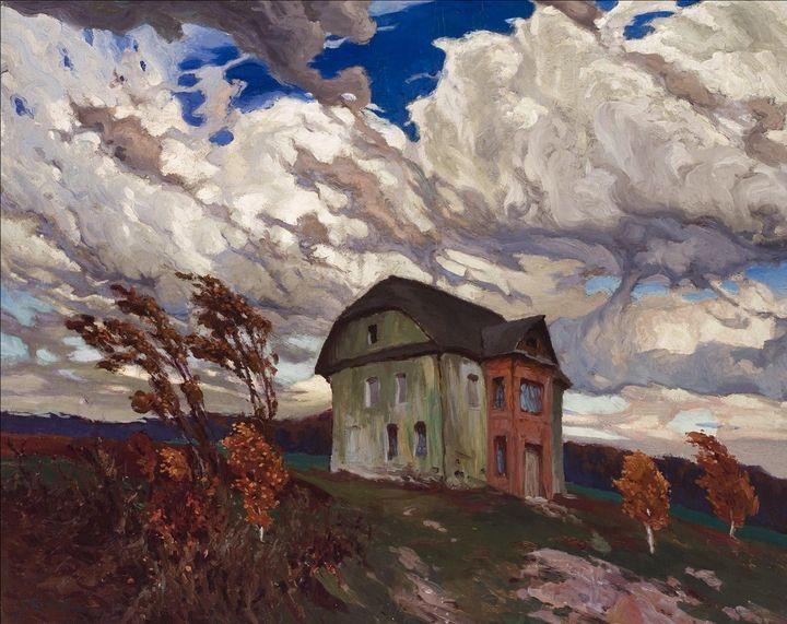 Ferdinandas Ruščisas~Wind in Autumn - Old master