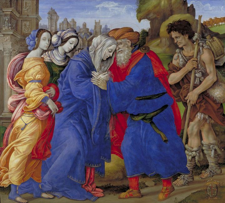 Filippino Lippi~The Meeting of Joach - Old master