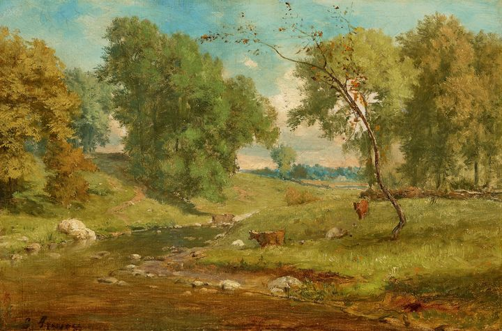 Formerly attributed to George Inness - Old master