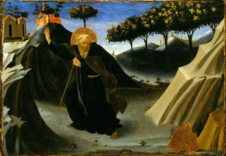 Fra Angelico~Saint Anthony Abbot Shu - Old master