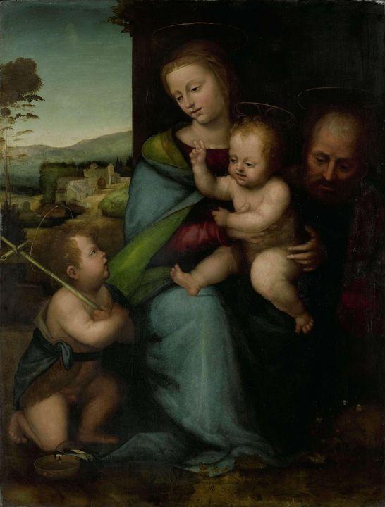Fra Bartolomeo~The Holy Family with - Old master