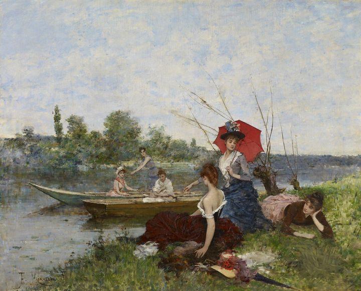 Francesc Miralles i Galaup~Boating - Old master