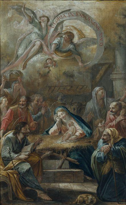 Francesc Pla i Duran~Birth of Jesus - Old master