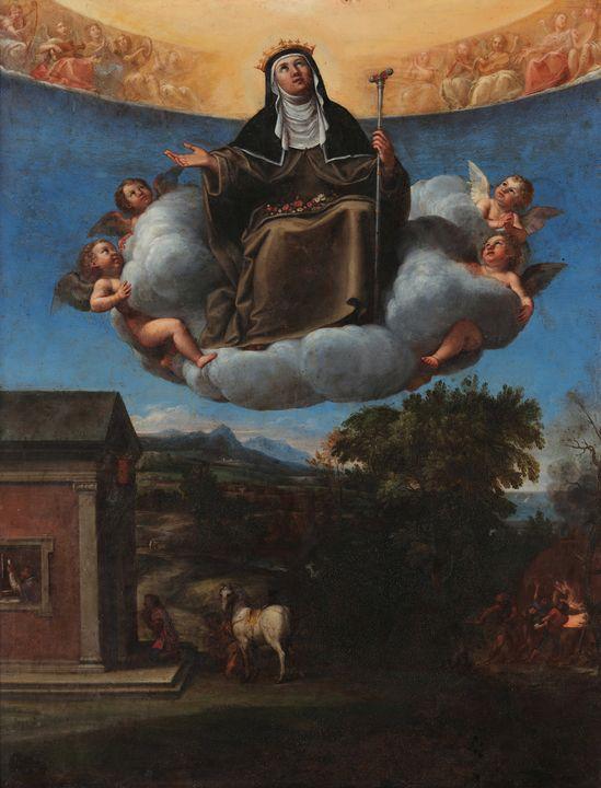 Francesco Albani~St. Elizabeth in Gl - Old master