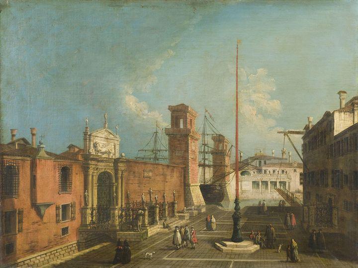 Francesco Albotto~View of the Porta - Old master