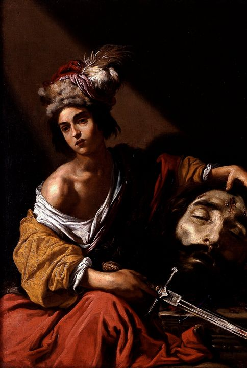 Claude Vignon~David with the Head of - Old master