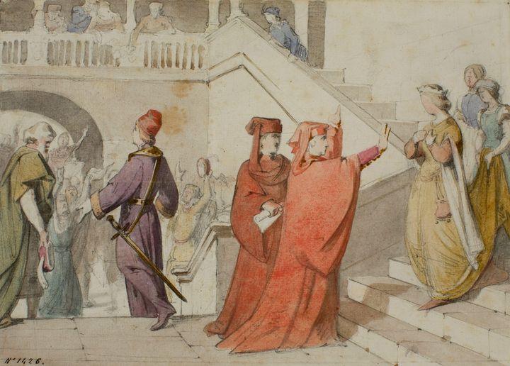 Claudi Lorenzale~Queen Joana is Prev - Old master