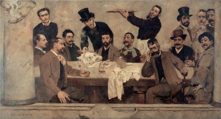 Columbano Bordalo Pinheiro~The Grupo - Old master