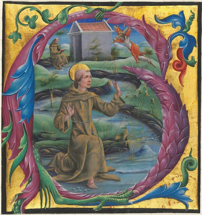 Cosmè Tura~Saint Francis Receiving t - Old master