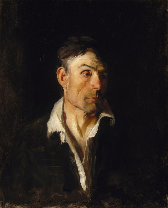 Frank Duveneck~Portrait of a Man (Ri - Old master