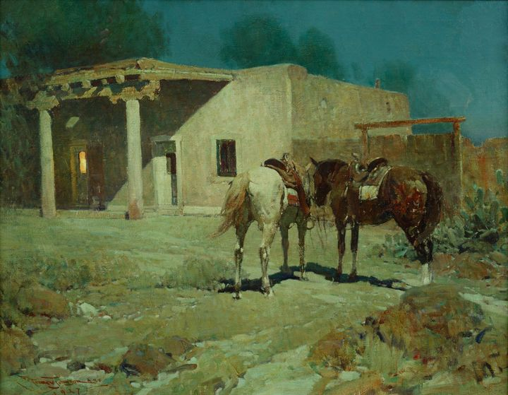 Frank Tenney Johnson~Southern Night - Old master