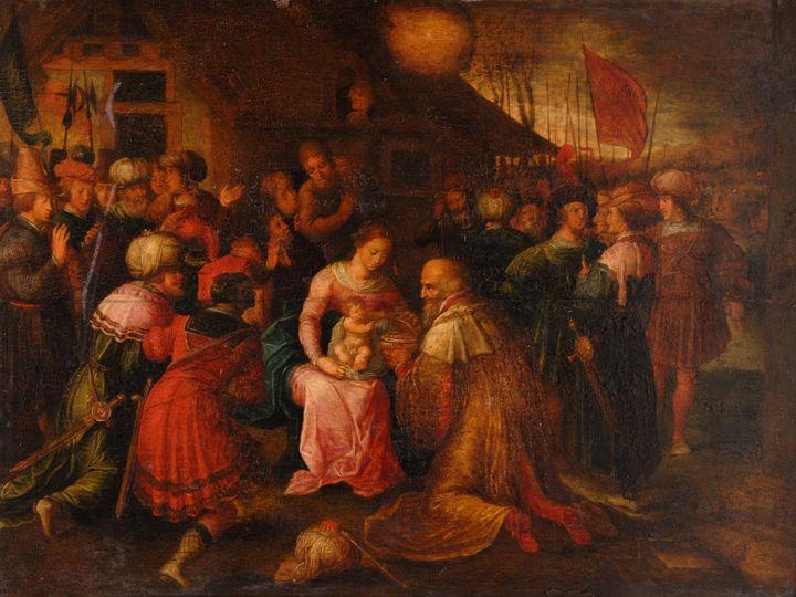 Frans Franck's Workshop~The Adoratio - Old master