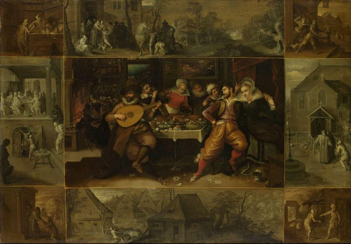 Frans Francken the Younger~The Story - Old master