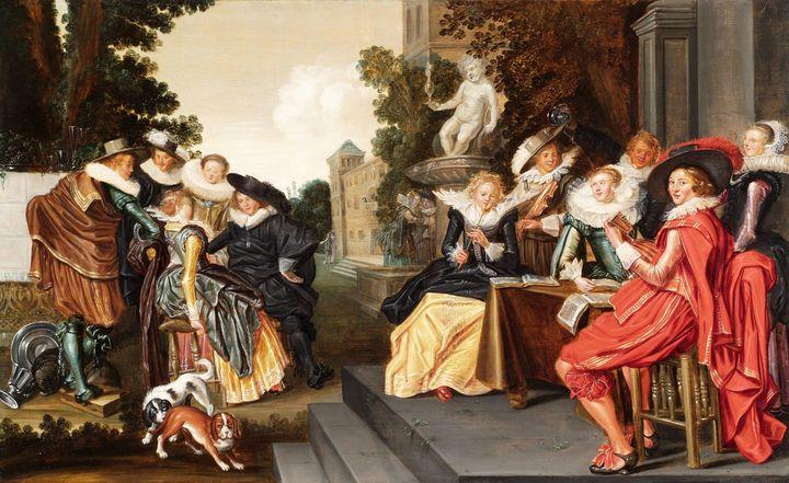 Frans Hals, Dirck Hals~Music-Making - Old master