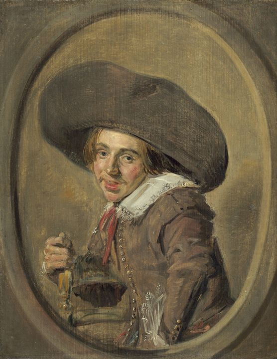 Frans Hals~A Young Man in a Large Ha - Old master