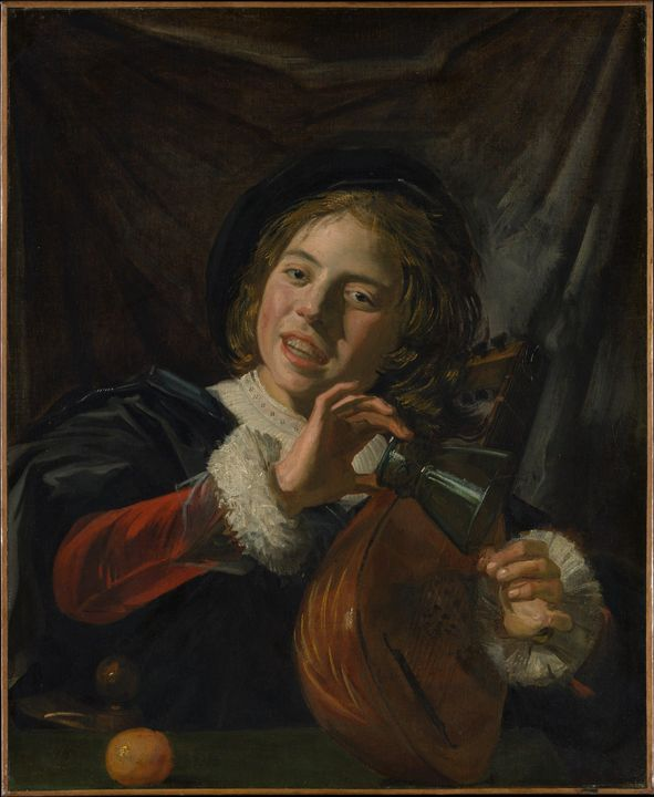 Frans Hals~Boy with a Lute - Old master