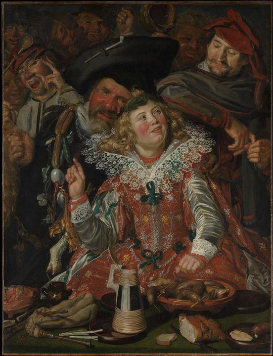 Frans Hals~Merrymakers at Shrovetide - Old master