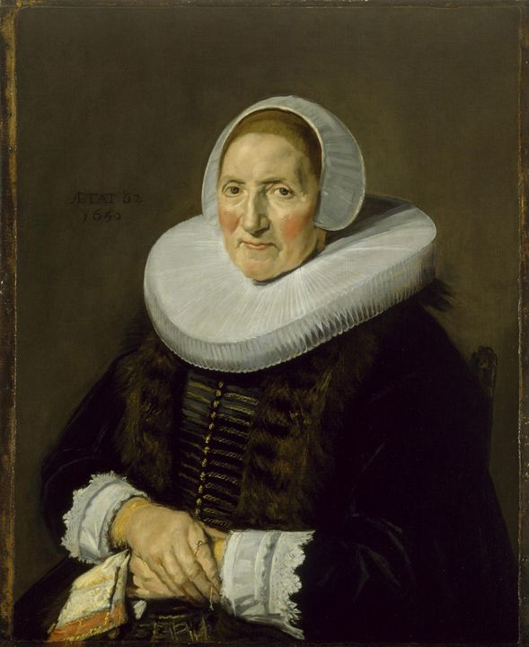 Frans Hals~Portrait of an Elderly Wo - Old master
